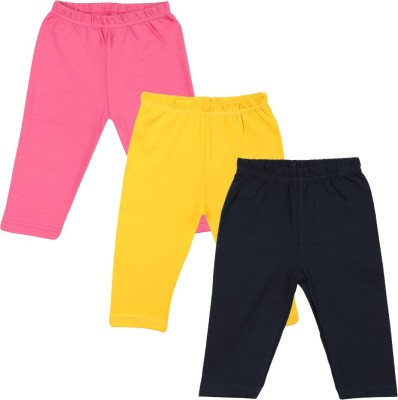 Color Fly Baby Girl's Pink, Dark Blue, Yellow Leggings