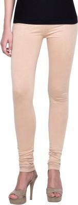 Golden Weave Women's Beige Leggings