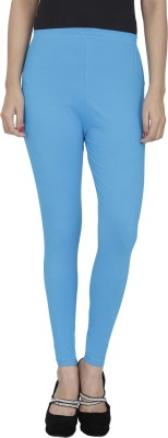 Anekaant Girl's Light Blue Leggings