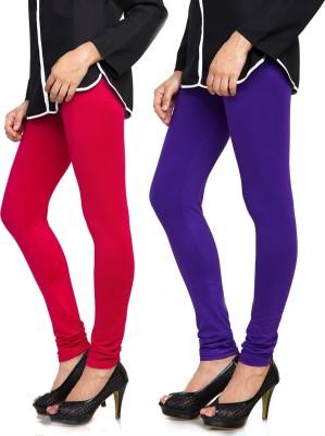 Bulbul Women's Red, Blue Leggings