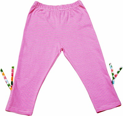 Always Kids Girl's Pink, White Leggings