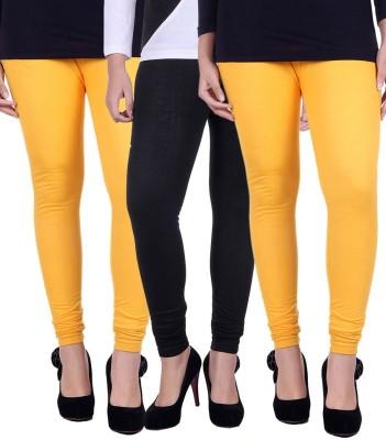 divine creations Women's Yellow, Black Leggings