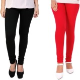 StudioRavel Women's Black, Red Leggings ...