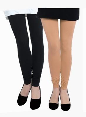 Uzee Women's Beige, Black Leggings