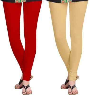 Roshni Creations Women,s Red, Beige Leggings