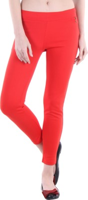 Hotberries Women's Red Jeggings