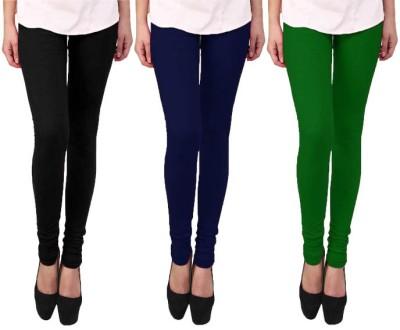 Escocer Women's Black, Blue, Green Leggings