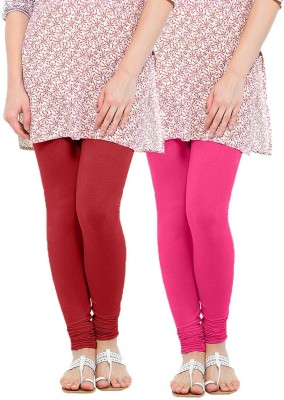 Linking Threads Women's Red, Pink Leggings