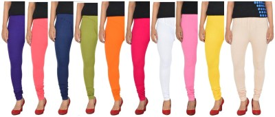 Penperry Women's Multicolor Leggings(Pack of 10) at flipkart
