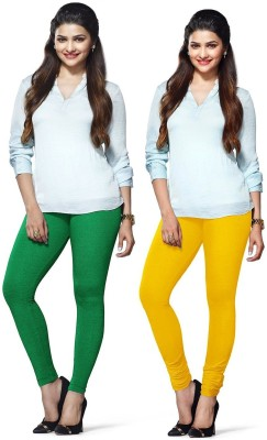 Amul Florio Women's Yellow, Green Leggings
