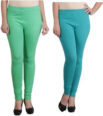 Ahhaaaa Women's Light Green, Green Leggings
