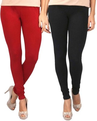 Sampoorna Collection Women's Black, Red Leggings