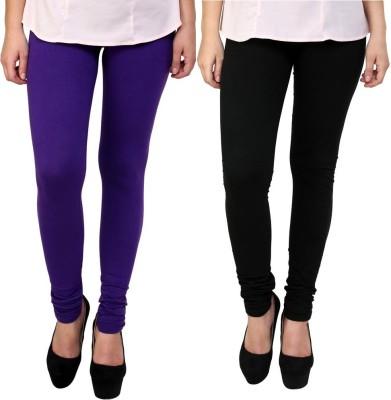 Legemat Girl,s Purple, Black Leggings