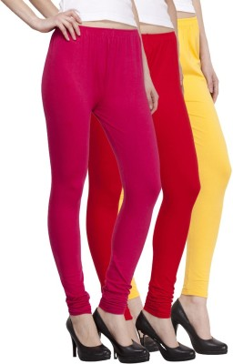 VENUSTAS Women's Gold, Silver, Red Leggings