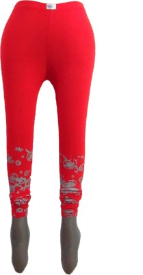 Revinfashions Women,s Red Leggings