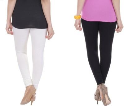texvilla Women's Black, White Leggings