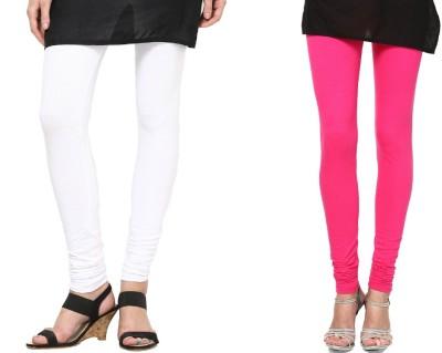CP Bigbasket Women's White, Pink Leggings