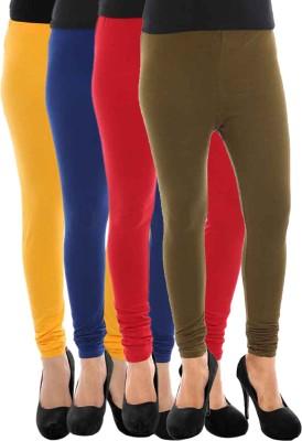 Paulzi Women's Yellow, Blue, Red, Brown Leggings