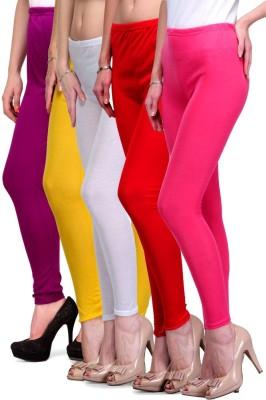 Rowena Women's Purple, Yellow, Red, Yellow, Pink Leggings