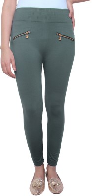 White Feather Women's Grey Jeggings