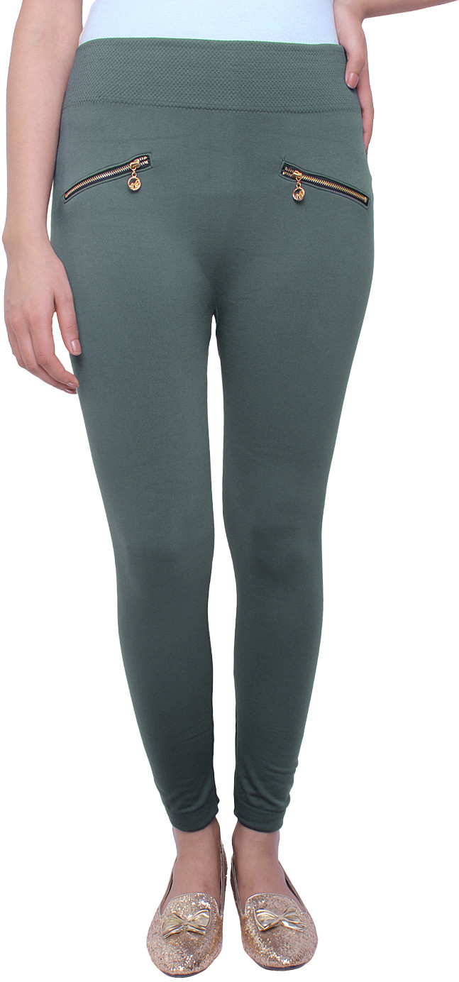 White Feather Womens Grey Jeggings
