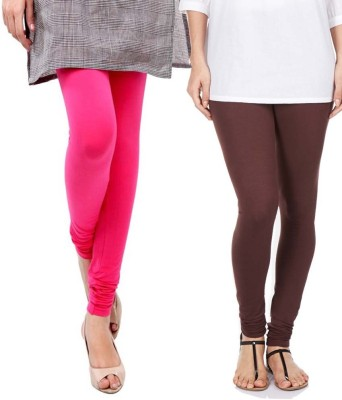 Sampoorna Collection Women's Brown, Pink Leggings