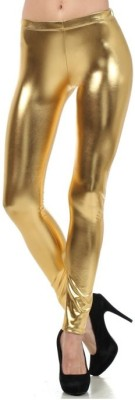 Harshita Fashion Women's Gold Leggings
