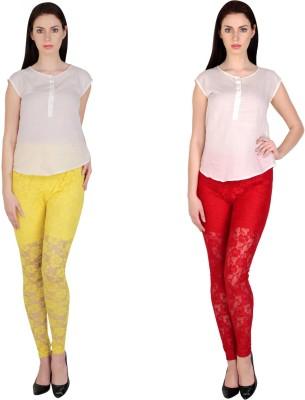 Simrit Women's Yellow, Red Leggings