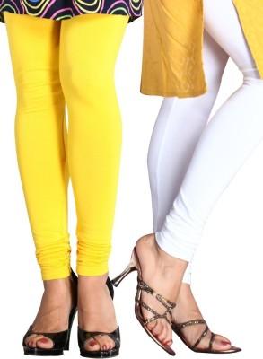 CP Bigbasket Women's Yellow, White Leggings