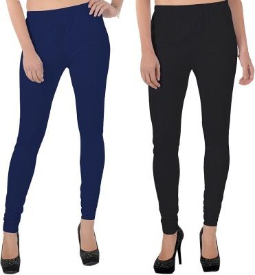 X-Cross Women's Dark Blue, Black Leggings