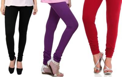 Lienz Women's Black, Purple, Red Leggings