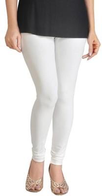 Miss Charming Women,s White Leggings