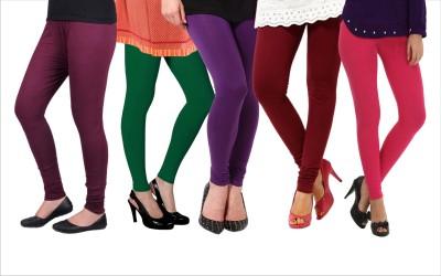 Melisa Women's Purple, Red, Pink, Green Leggings