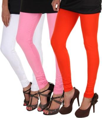 Itnol International Women's White, Pink, Orange Leggings