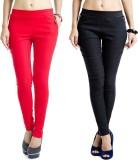 Kyron Women's Black, Red Jeggings (Pack ...