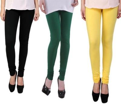 divine creations Women's Yellow, Black, Green Leggings