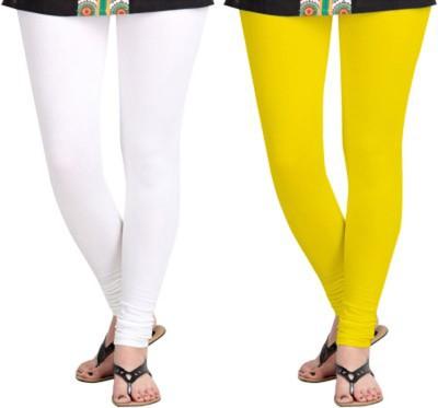 shivam Garments Women's White, Yellow Leggings