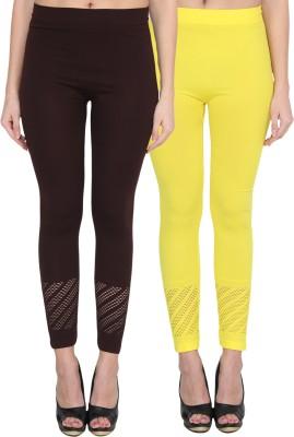 NumBrave Women's Brown, Yellow Leggings