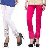 RobinRomeo Women's Pink, White Leggings ...