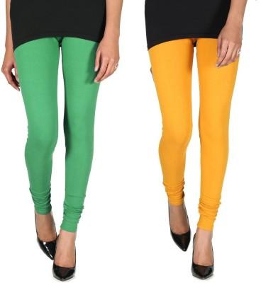 Ally Of Focker Women's Green, Yellow Leggings