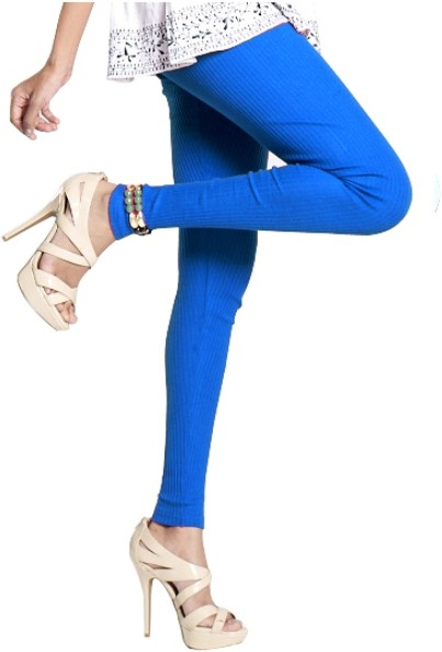 Notyet By Us Womens Blue Leggings