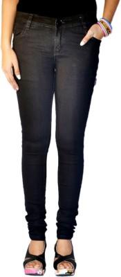 Brown Apple Slim Fit Women's Black Jeans