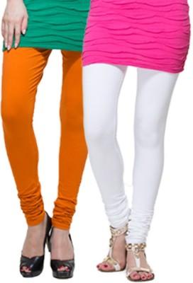 Apsn Retail Women's Orange, White Leggings