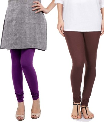 Sampoorna Collection Women's Brown, Purple Leggings