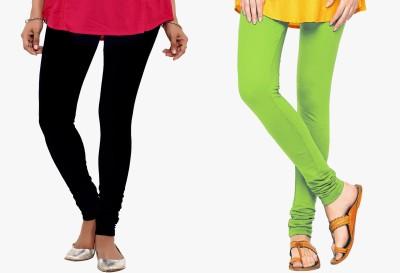 Saree Exotica Women's Black, Green Leggings