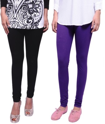 Tanunni Women's Black, Purple Leggings
