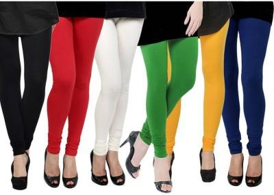 Fashion Zilla Women's Black, Red, White, Light Green, Yellow, Blue Leggings