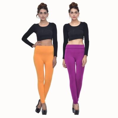 Both11 Women's Yellow, Purple Leggings