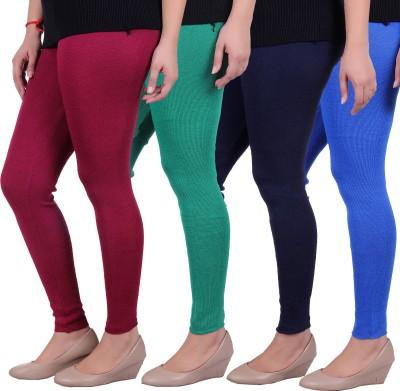 Sellsy Women's Maroon, Green, Blue, Blue Leggings