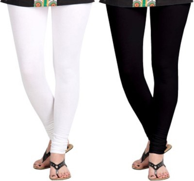 shivam Garments Women's Black, White Leggings